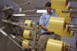 DuPont Technician Inspecting Kevlar® Bobbins