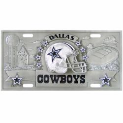 NFL 3D License Plate