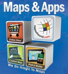 MapsofWorld.com is going to showcase mobile apps and content digitization for map publishers