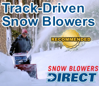 track drive snow blower, snowblower with tracks, track snowblower