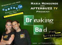 """Extra's Maria Menounos hosts AfterBuzz TV's Breaking Bad Season Finale Viewing Party, Cast Q & A and """"after-show"""" live from Universal CityWalk's Jon Lovitz Comedy Club"""