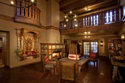 The Spanish Colonial Art & Architectural Design of the lobby of Hotel Chimayo Santa Fe
