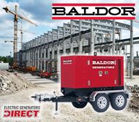 baldor generator, baldor towable generator, baldor tow behind generator