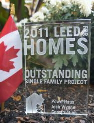 Toronto, CA GREENBUILD Conference 2011 USGBC LEED for Homes Award | Outstanding Single Family Project of the year