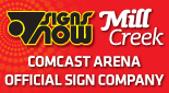 Seattle Signs and Banners for Comcast Arena in Everett, WA