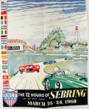 Poster by Zito Ferrari of the 12 Hours of Sebring