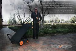 "Jonathan ""Sugarfoot"" Moffett (Drummer for Michael Jackson, Elton John, Madonna) with his GRUV GEAR Solo XL utility cart"