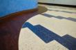 Beautiful colors and patterns can be created with GLASS RECYCLED floors