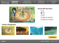 Rixty uses a patent-pending process to add a player's username and avatar image to a reusable gift card.