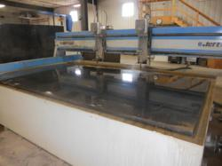 Water jet cutting machine at Precision Waterjet Concepts