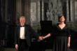 Brian Ganz and Olivia Vote take bows in Alba Italy last year.  Ganz performed Chopin in a church as old as the composer