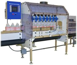 Plastic filling machine