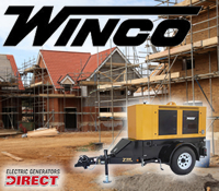 winco towable generator, winco towable generators, winco diesel generator, winco tow behind generator