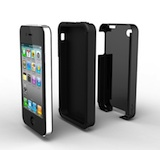 Acase iPhone 4 4S 4G Dual Layer Case (Black/Black)