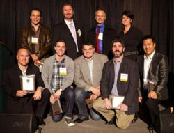 Edward Hechter, CEO of PartyPail, Inc. Poses with Other Puget Sound Business Journal Honorees