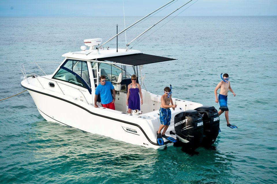 Boston Whaler 2012 285 Conquest with SureShade Factory-install option