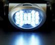 The lamp has 18 LED bulbs
