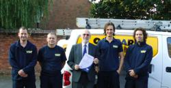 The team from Oakpark Alarms in Dorset achieve BAFE certification