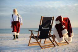 Santa at Beach Resort in Florida