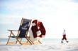 Santa on Destin Beach Florida