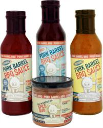 visit www.PorkBarrelBBQ.com to purchase sauces and spice rub