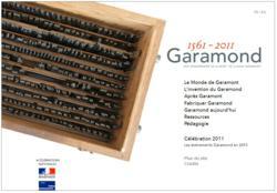 Garamond site multimédia typographique