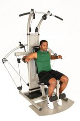 Former NY Jets Running Back Curtis Martin working out on the Bioforce Pro Fitness System