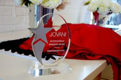 Website award for MissesDressy.com - issued by top Prom Gown designer Jovani Fashions.
