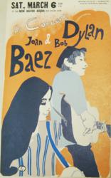 Bob Dylan and Joan Baez New Haven Concert Poster