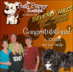 Sweepstakes winner for Disney Studios' Beverly Hills Chihuahua 2 DVD with www.PoshPuppyBoutique.com!
