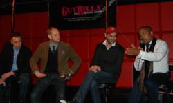 Eric Simon, Scott Debson, Michael Hermann, and Daymond John at GuyRilla's BroCon Meetup