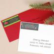 Christmas Photo Card with Matching Address Labels