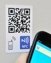 QR Code and NFC Tag Sticker