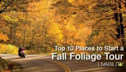 Livability.com presents the Top 10 Places to Start a Fall Foliage Tour