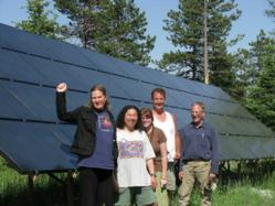 Solar Panel Hosting team at an installation in Nederland