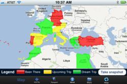 TravelMapper virtual travel map mobile application