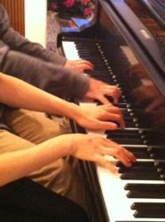 Japanese Piano Duo Seo & Kato play a Schubert Sonata for 4 hands