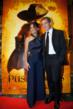 Salma Hayek and Antonio Banderas, the stars of the new Puss In Boots film on the red carpet at the film's premiere at Gaylord Texan in Grapevine, Texas.