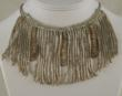 New necklace made using antique French coil fringe with caterpillars