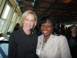 NYU Kimmel Center in NYC 1st Annual Women's Economic Empowerment Summit Vanessa Best Precision HealthCare with Senator Gillibrand