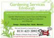 Gardening Services Edinburgh Flyer