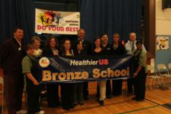 From Left to Right: Tim Downey, P.E. Teacher; Barbara Zahlman, Food Service Worker; Dr. Angela Vicenzi, Brookside School Nurse; Lisa Cantor, Food Service Director Whitsons School Nutrition; Donna Centinaro, Assistant Food Service Director; Dr. Susan Marks