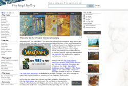St. Louis web marketing company, The Net Impact, redesigned Van Gogh Gallery's website