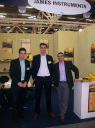 James Europe sales personal (from left to right) Kevin Rupert, inside sales, Mark Wiggers , sales Manager and Nestor Chonillo, Vice-President.