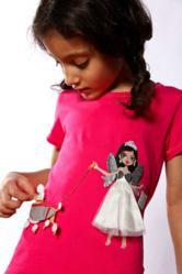 Sass Factory Me-T with Detachable Dress-up Outfit Appliqué and Dog Appliqué
