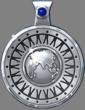Silver Rhodium Oneness Pendant with Lapis
