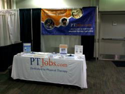The JobsTherapy / PTJobs.com booth