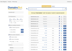 The new DomainsBot.com results page
