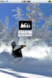 REI Snow Report Splash Page