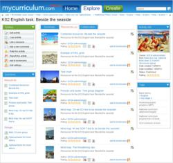 MyCurriculum.com Screenshot